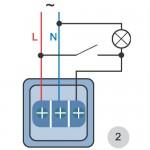 схема подключения светодиодного прожектора с обычным выключателем